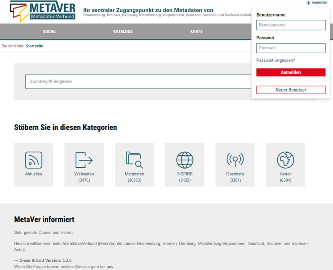 MetaVer-Startseite