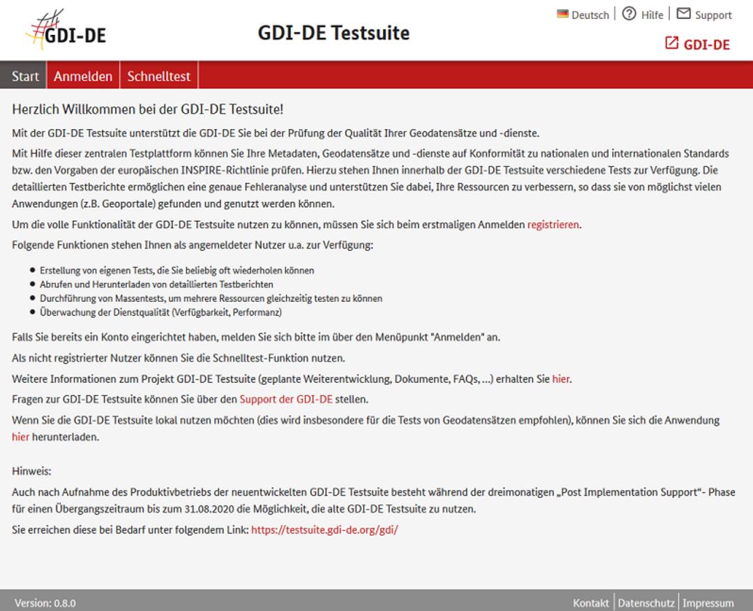 GDI-DE Testsuite