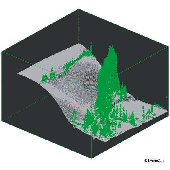 Klassifiziertes Laserscanergebnis