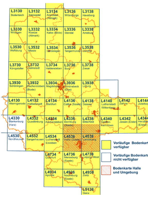 Regionalbodenkarte Halle und Umgebung